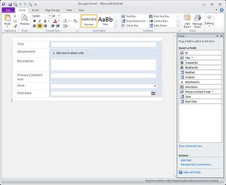 Vytváranie formulárov pre zoznamy služby SharePoint