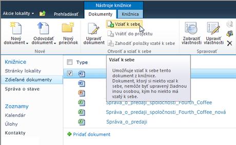 Jednoduchá kontrola a správa dokumentov