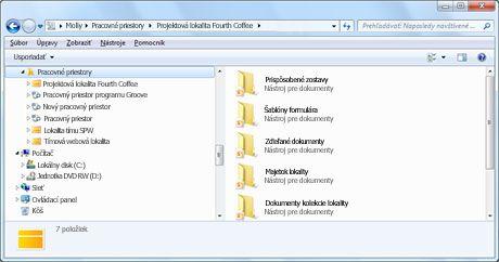 Rýchly prístup k obsahu lokality SharePoint z programu Windows Prieskumník